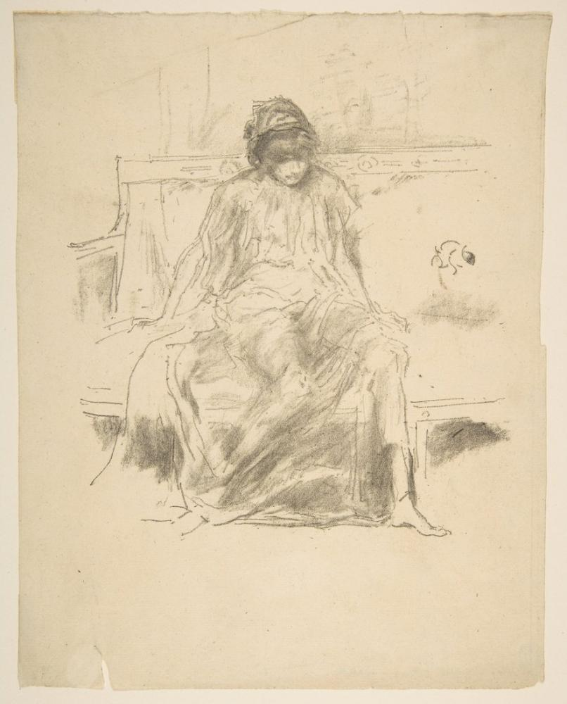 James Abbott McNeill Whistler, The Draped Figure Seated, Figure, James Abbott McNeill Whistler, kanvas tablo, canvas print sales