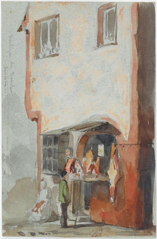 James Abbott McNeill Kasap Dükkanı, Figür, James Abbott McNeill Whistler, kanvas tablo, canvas print sales