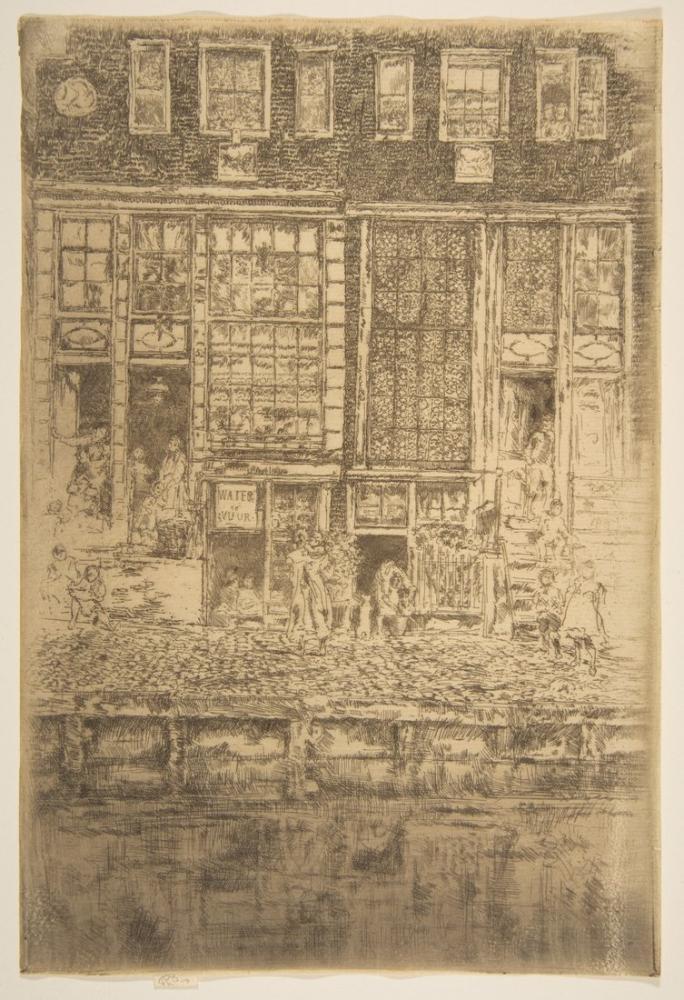 James Abbott McNeill Whistler, İşlemeli Perde, Figür, James Abbott McNeill Whistler, kanvas tablo, canvas print sales