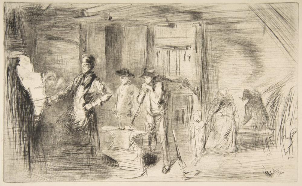 James Abbott McNeill Whistler, Demirhane, Figür, James Abbott McNeill Whistler, kanvas tablo, canvas print sales