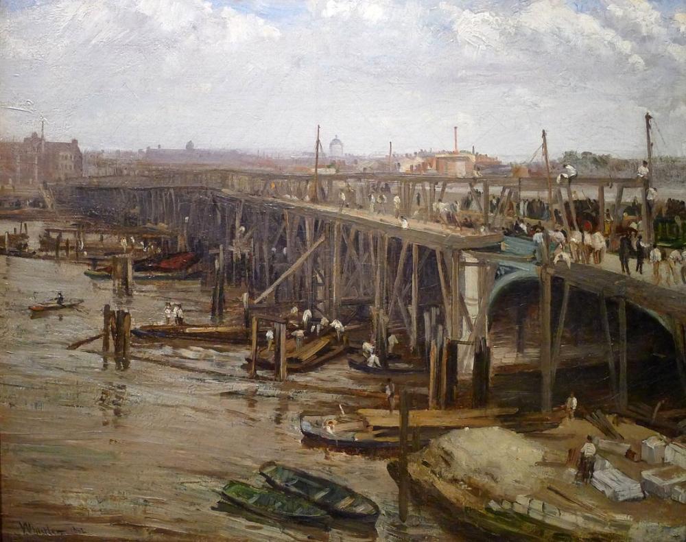 James Abbott McNeill Whistler, Eski Westminster in Sonuncusu, Kanvas Tablo, James Abbott McNeill Whistler, kanvas tablo, canvas print sales