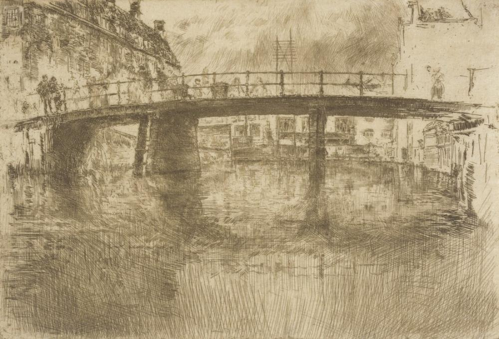 James Abbott McNeill Whistler, Bridge Amsterdam, Canvas, James Abbott McNeill Whistler, kanvas tablo, canvas print sales