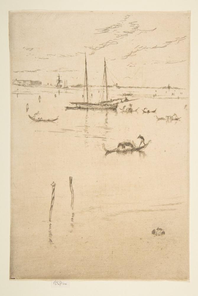 James Abbott McNeill Whistler, The Little Lagoon, Figure, James Abbott McNeill Whistler, kanvas tablo, canvas print sales