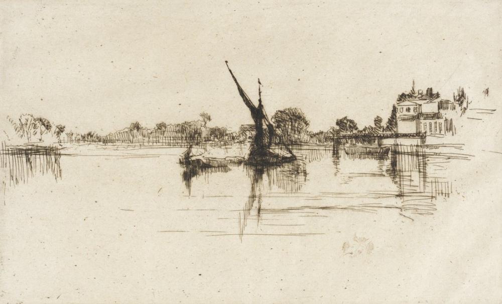 James Abbott McNeill Whistler, Küçük Putney, Kanvas Tablo, James Abbott McNeill Whistler, kanvas tablo, canvas print sales
