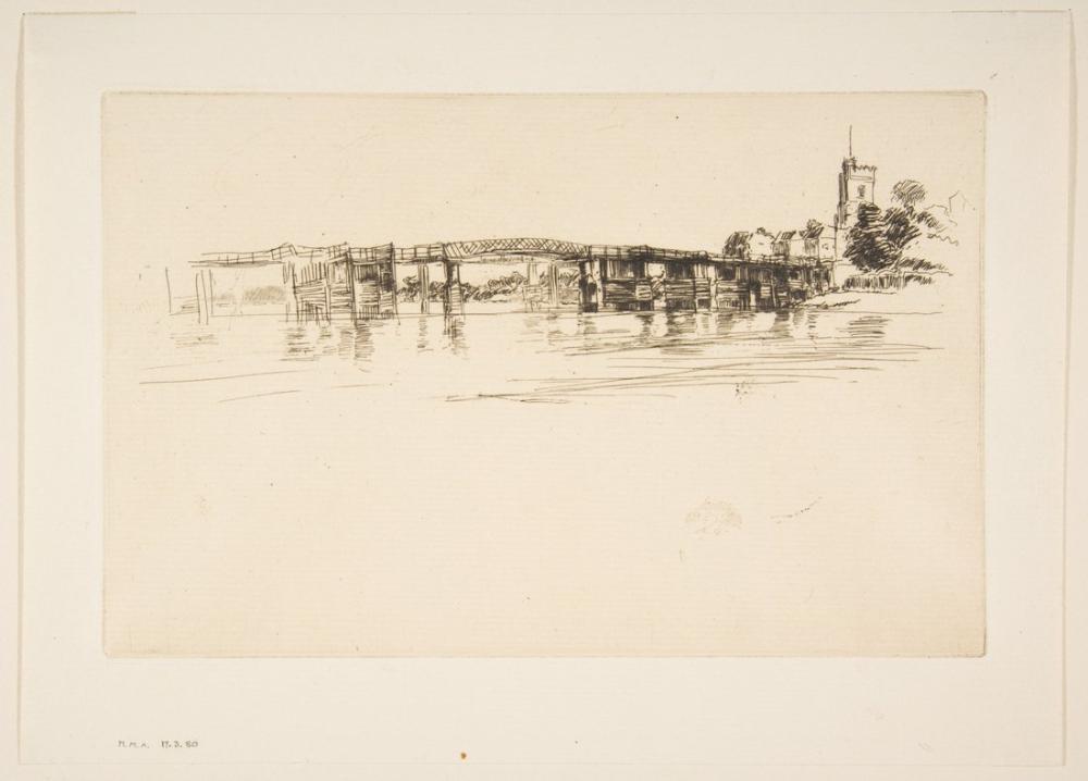James Abbott McNeill Whistler, Küçük Putney Köprüsü, Kanvas Tablo, James Abbott McNeill Whistler, kanvas tablo, canvas print sales