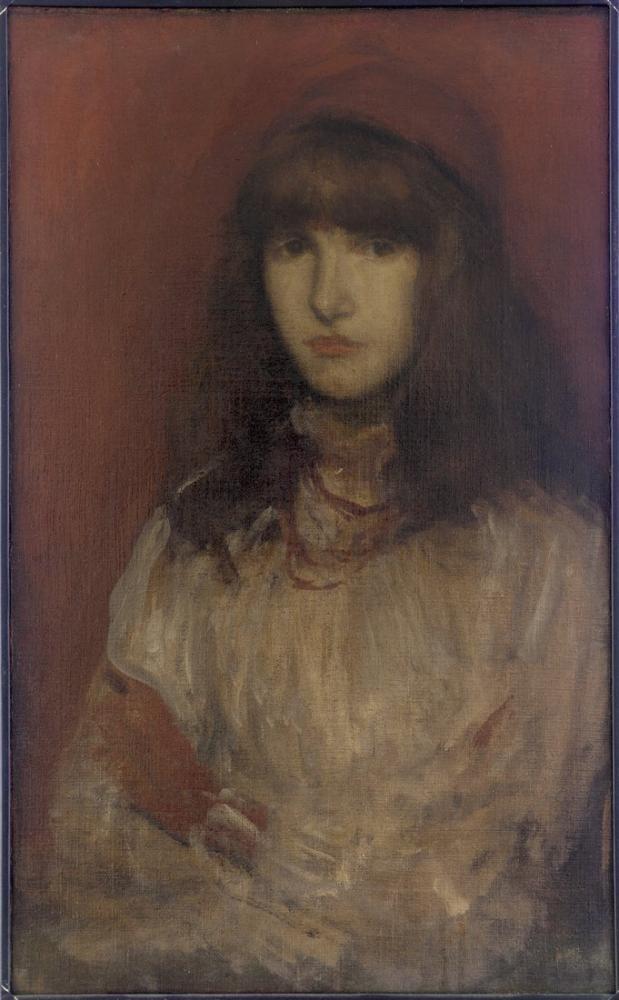 James Abbott McNeill Whistler, The Little Red Glove, Canvas, James Abbott McNeill Whistler, kanvas tablo, canvas print sales