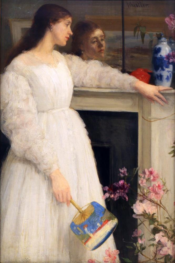 James Abbott McNeill Whistler, Küçük Beyaz Kız, Kanvas Tablo, James Abbott McNeill Whistler, kanvas tablo, canvas print sales