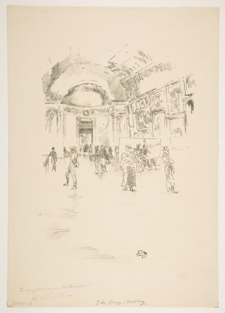 James Abbott McNeill Whistler, Uzun Galeri Louvre, Figür, James Abbott McNeill Whistler, kanvas tablo, canvas print sales