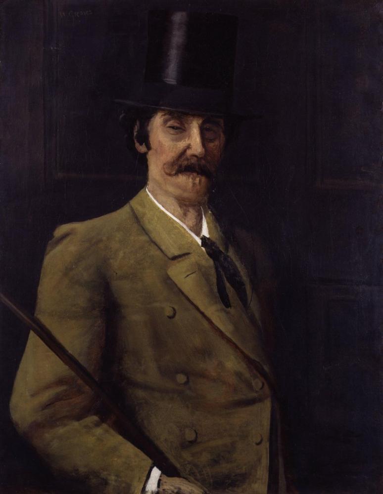 James Abbott McNeill Whistler, Tarafından Walter Greaves, Kanvas Tablo, James Abbott McNeill Whistler, kanvas tablo, canvas print sales