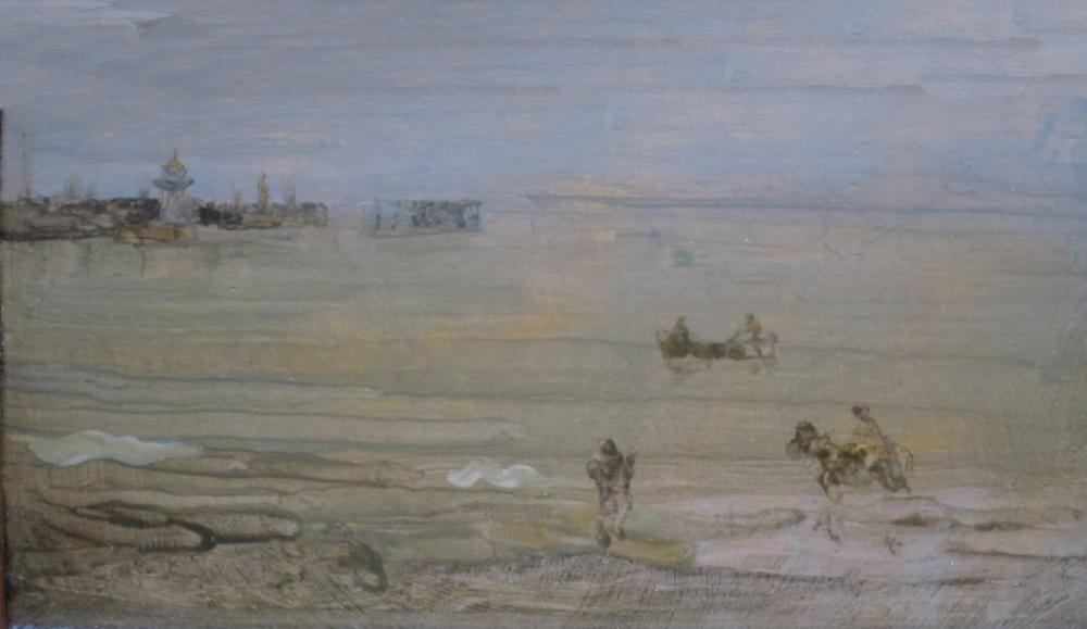 James Abbott McNeill Whistler, The Pier a Grey Note by, Figure, James Abbott McNeill Whistler, kanvas tablo, canvas print sales