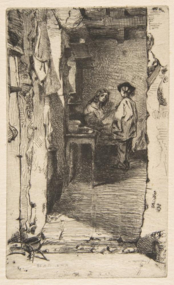 James Abbott McNeill Whistler, Bez Toplayıcılar Mouffetard Bölgesi Paris, Figür, James Abbott McNeill Whistler, kanvas tablo, canvas print sales