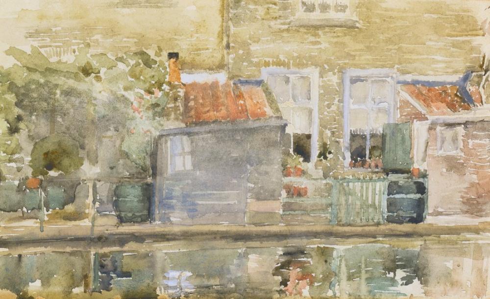 James Abbott McNeill Whistler, Canal Scene in Holland by, Canvas, James Abbott McNeill Whistler, kanvas tablo, canvas print sales