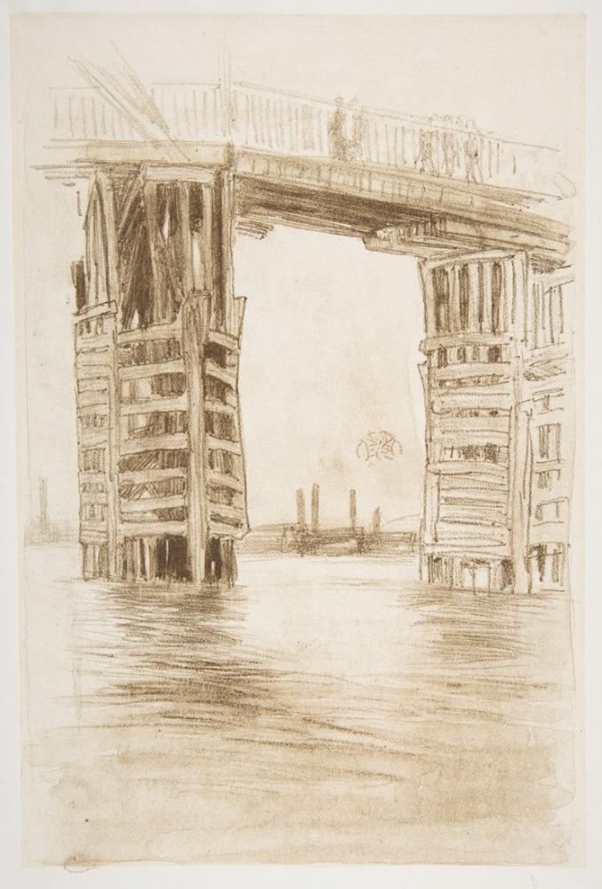 James Abbott McNeill Whistler, Uzun Köprü, Figür, James Abbott McNeill Whistler, kanvas tablo, canvas print sales