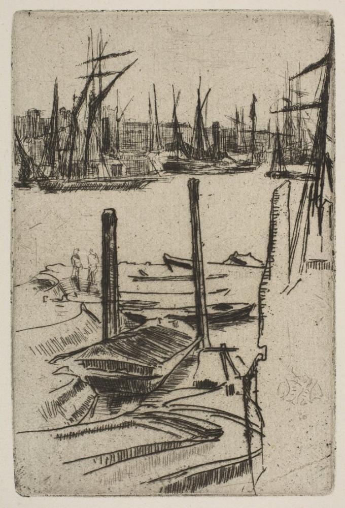 James Abbott McNeill Whistler, Küçük Havuz, Figür, James Abbott McNeill Whistler, kanvas tablo, canvas print sales