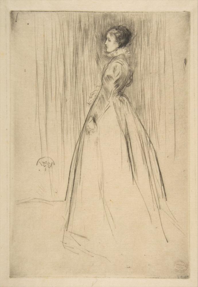 James Abbott McNeill Whistler, Kadife Elbise Bayan Leyland, Figür, James Abbott McNeill Whistler, kanvas tablo, canvas print sales