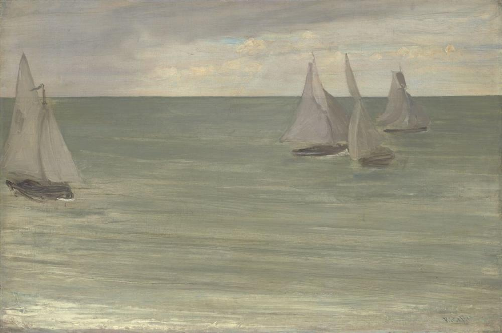 James Abbott McNeill Whistler, Trouville Grey and Green the Silver Sea, Canvas, James Abbott McNeill Whistler, kanvas tablo, canvas print sales