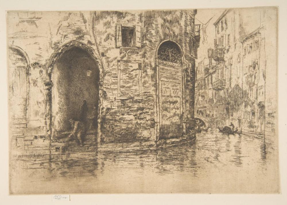 James Abbott McNeill Whistler, İki Giriş, Figür, James Abbott McNeill Whistler, kanvas tablo, canvas print sales