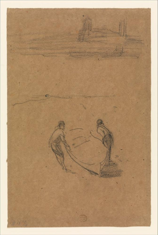 James Abbott McNeill Whistler, Two Men and a Boat, Figure, James Abbott McNeill Whistler, kanvas tablo, canvas print sales