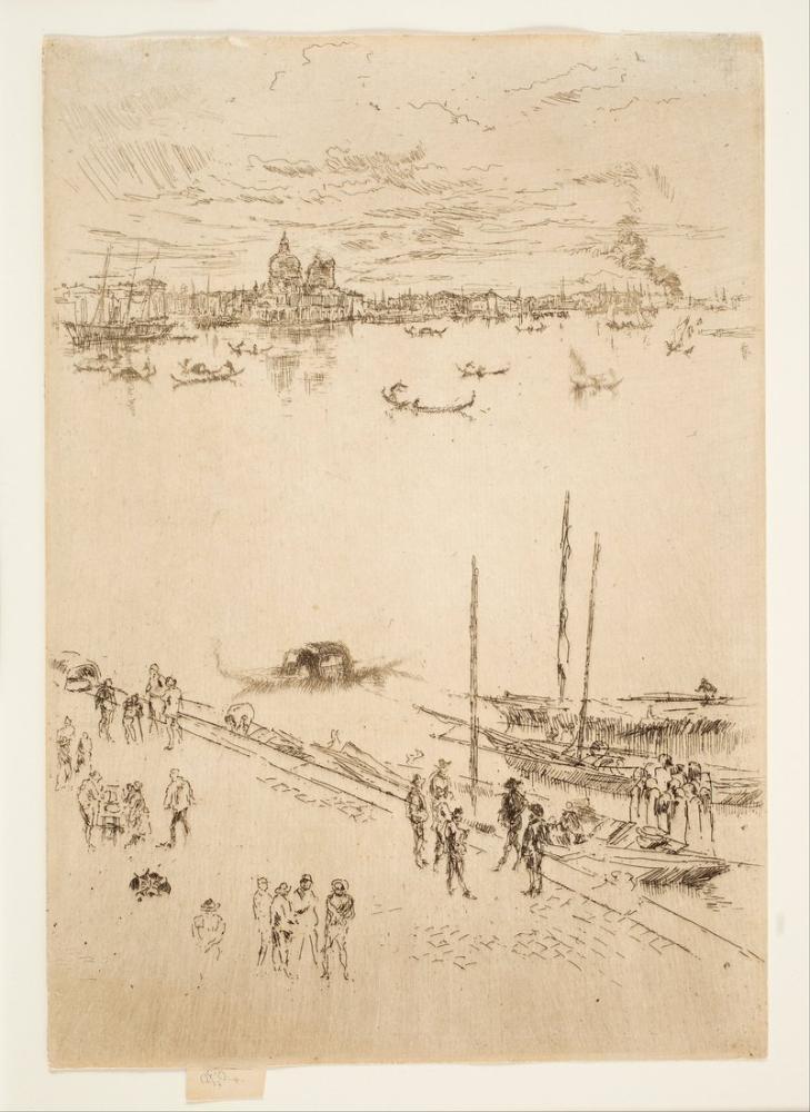 James Abbott McNeill Whistler, İkinci Venedik Seti olarak da bilinen Yirmi Altı Dağlamadan Dik Venedik, Kanvas Tablo, James Abbott McNeill Whistler, kanvas tablo, canvas print sales