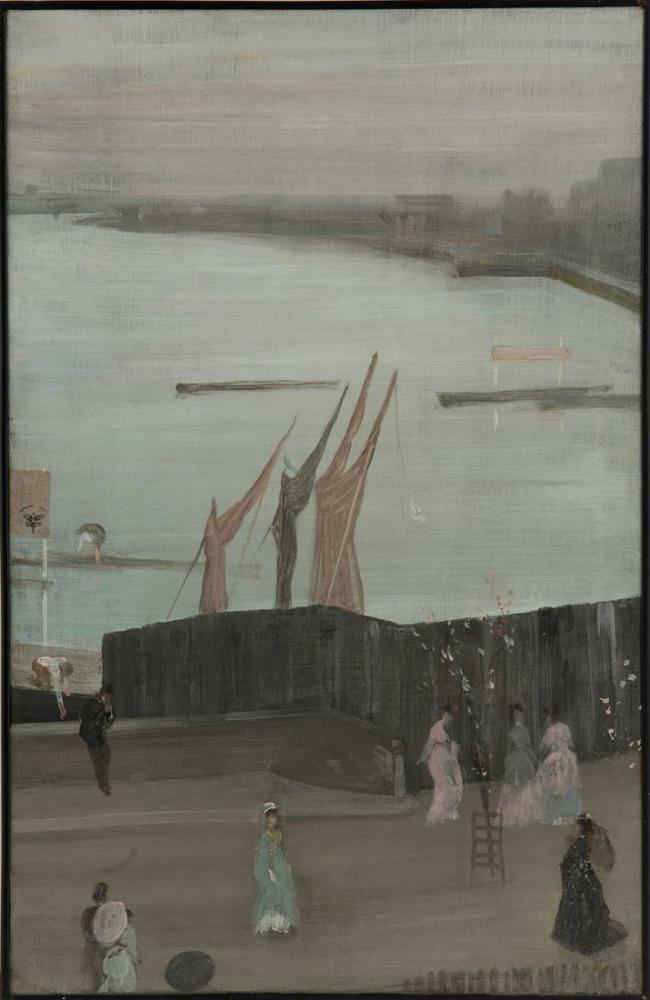 James Abbott McNeill Whistler, Pembe ve Gri Chelsea deki Çeşitlemeler, Kanvas Tablo, James Abbott McNeill Whistler, kanvas tablo, canvas print sales
