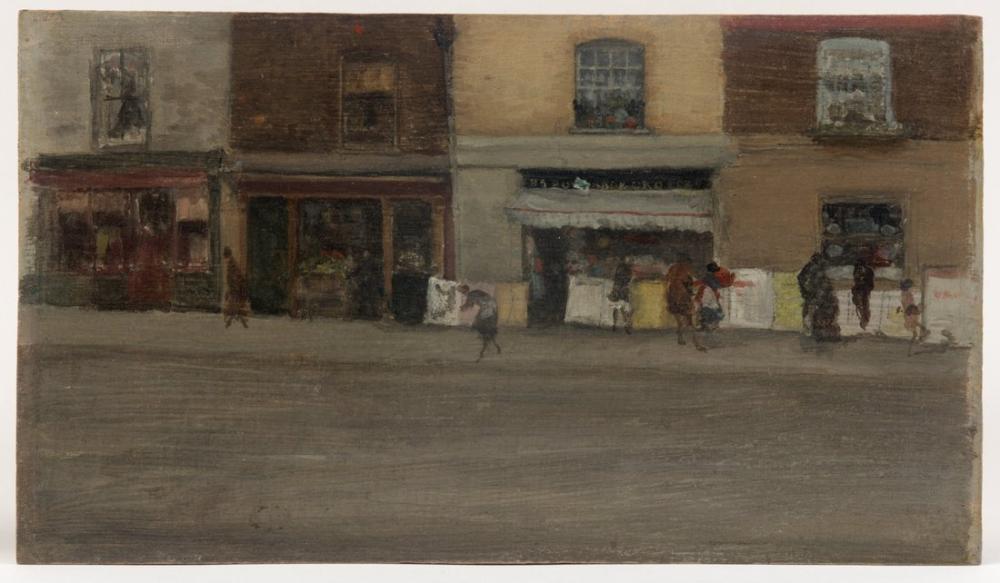 James Abbott McNeill Whistler, Chelsea Dükkanları, Figür, James Abbott McNeill Whistler, kanvas tablo, canvas print sales