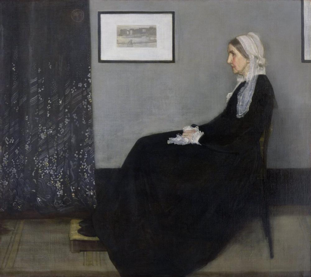 James Abbott McNeill Whistler, Whistler ın Anne si, Kanvas Tablo, James Abbott McNeill Whistler, kanvas tablo, canvas print sales