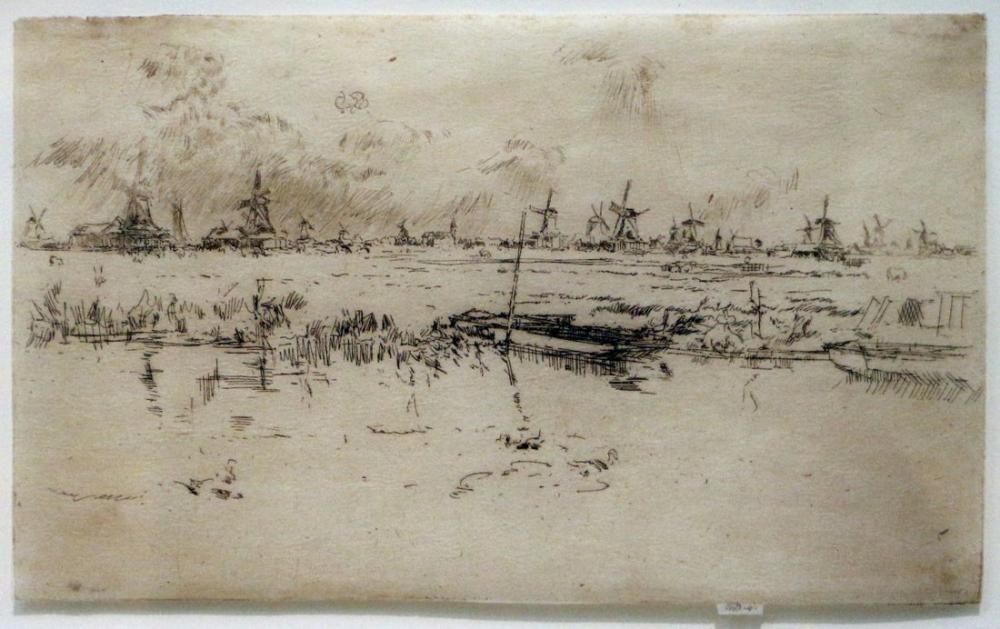 James Abbott McNeill Whistler, Zaandam, Kanvas Tablo, James Abbott McNeill Whistler, kanvas tablo, canvas print sales
