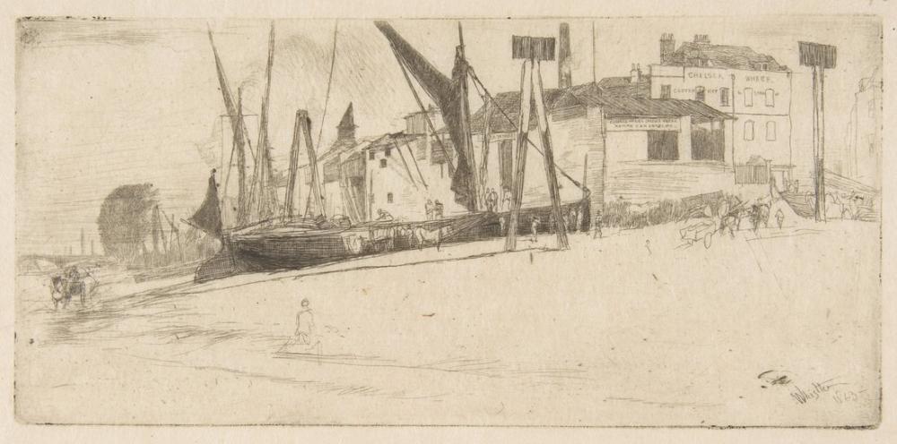 James Abbott McNeill Whistler, Chelsea Rıhtımı, Figür, James Abbott McNeill Whistler, kanvas tablo, canvas print sales
