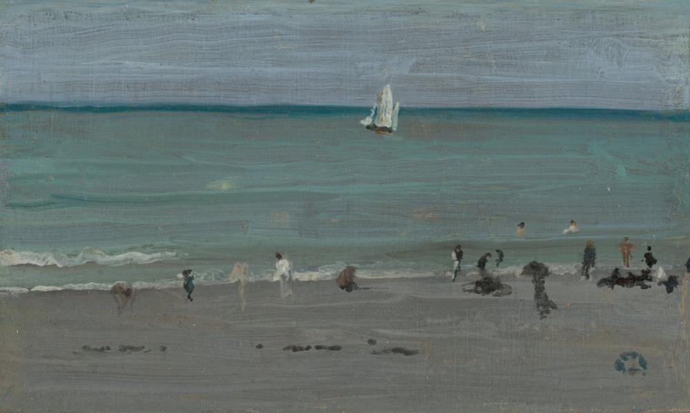 James Abbott McNeill Whistler, Coast Scene Bathers, Figure, James Abbott McNeill Whistler, kanvas tablo, canvas print sales