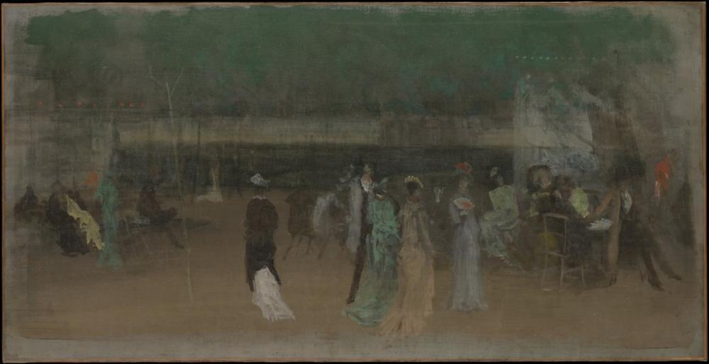 James Abbott McNeill Whistler, Cremorne Bahçeleri, Figür, James Abbott McNeill Whistler, kanvas tablo, canvas print sales