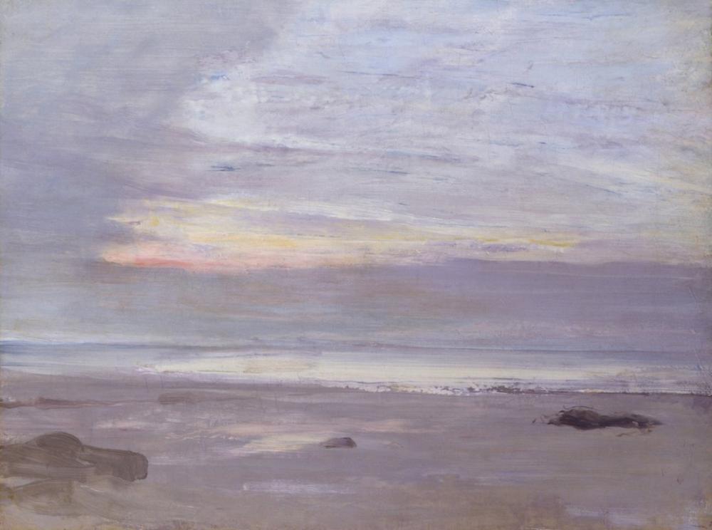 James Abbott McNeill Whistler, Crepuscule in Opal Trouville, Canvas, James Abbott McNeill Whistler, kanvas tablo, canvas print sales