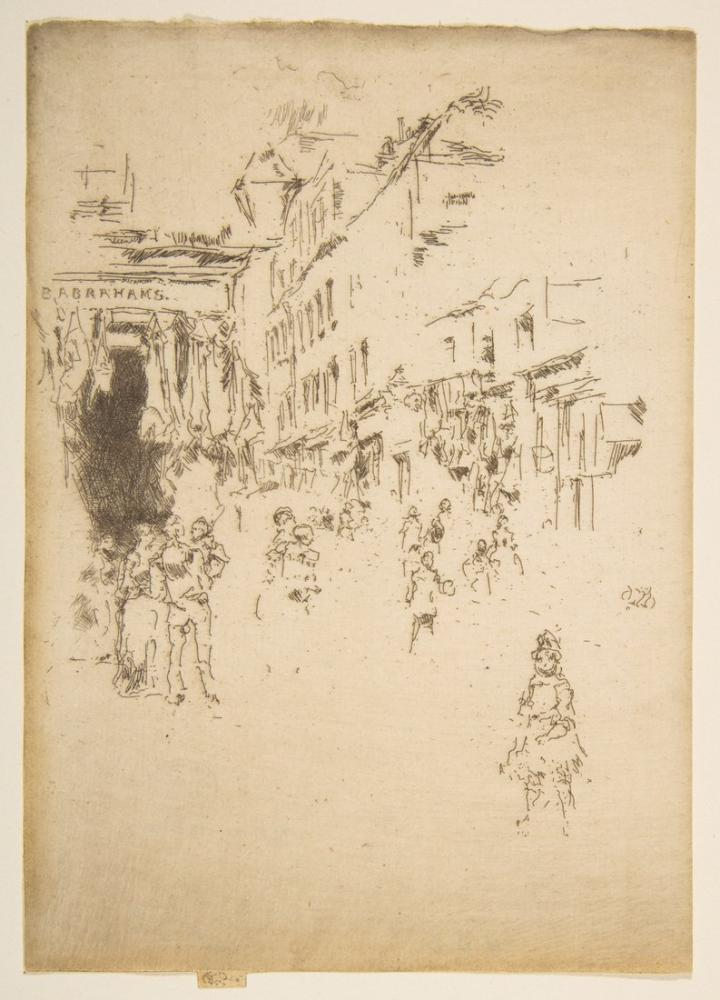 James Abbott McNeill Whistler, Cutler Caddesi Houndsditch, Figür, James Abbott McNeill Whistler, kanvas tablo, canvas print sales