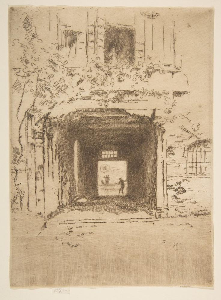 James Abbott McNeill Whistler, Doorway and Vine, Figure, James Abbott McNeill Whistler, kanvas tablo, canvas print sales