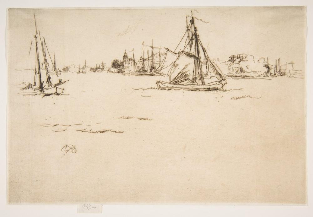 James Abbott McNeill Whistler, Dordrecht, Kanvas Tablo, James Abbott McNeill Whistler, kanvas tablo, canvas print sales