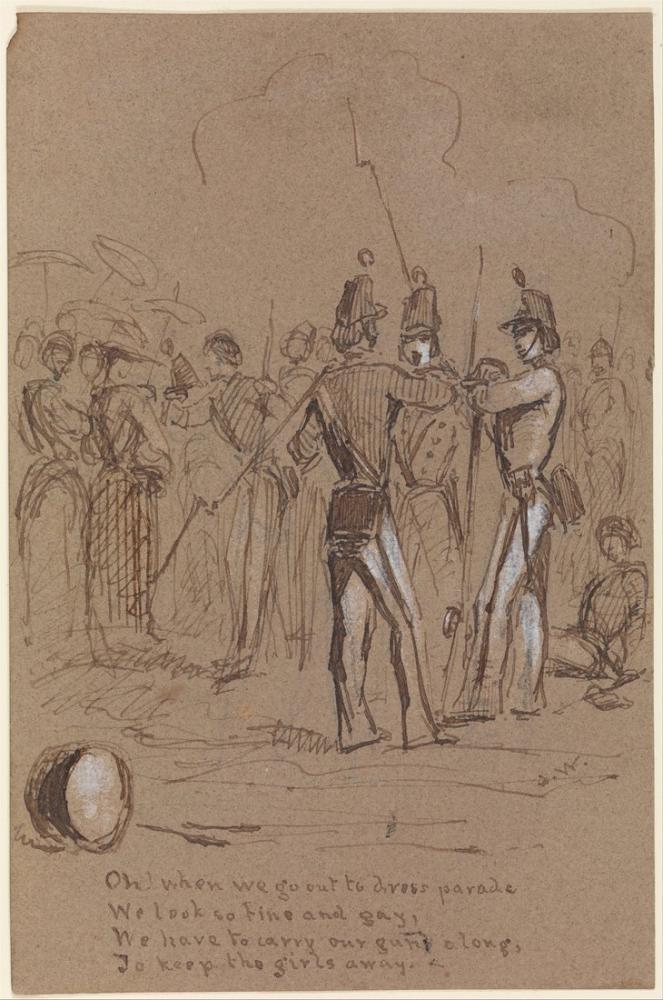 James Abbott McNeill Whistler, Dress Parade from Sketchbook, Figure, James Abbott McNeill Whistler, kanvas tablo, canvas print sales