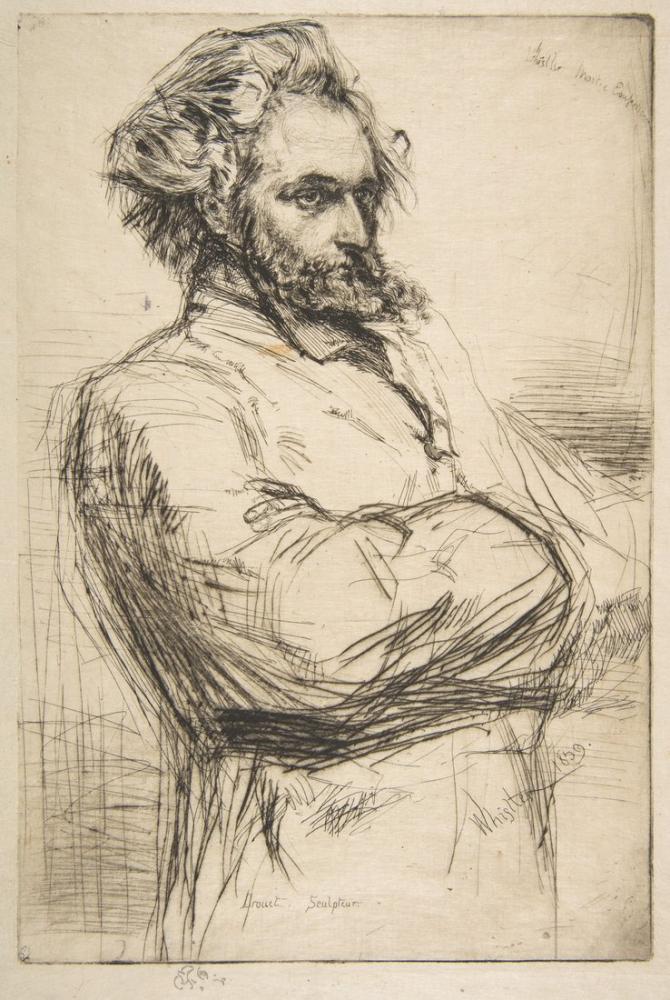 James Abbott McNeill Whistler, Drouet C.L. Drouet Heykeltıraş, Kanvas Tablo, James Abbott McNeill Whistler, kanvas tablo, canvas print sales