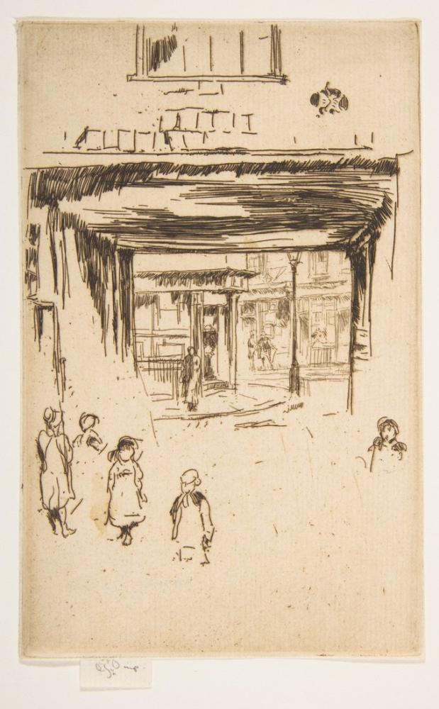 James Abbott McNeill Whistler, Drury Lane, Figür, James Abbott McNeill Whistler, kanvas tablo, canvas print sales