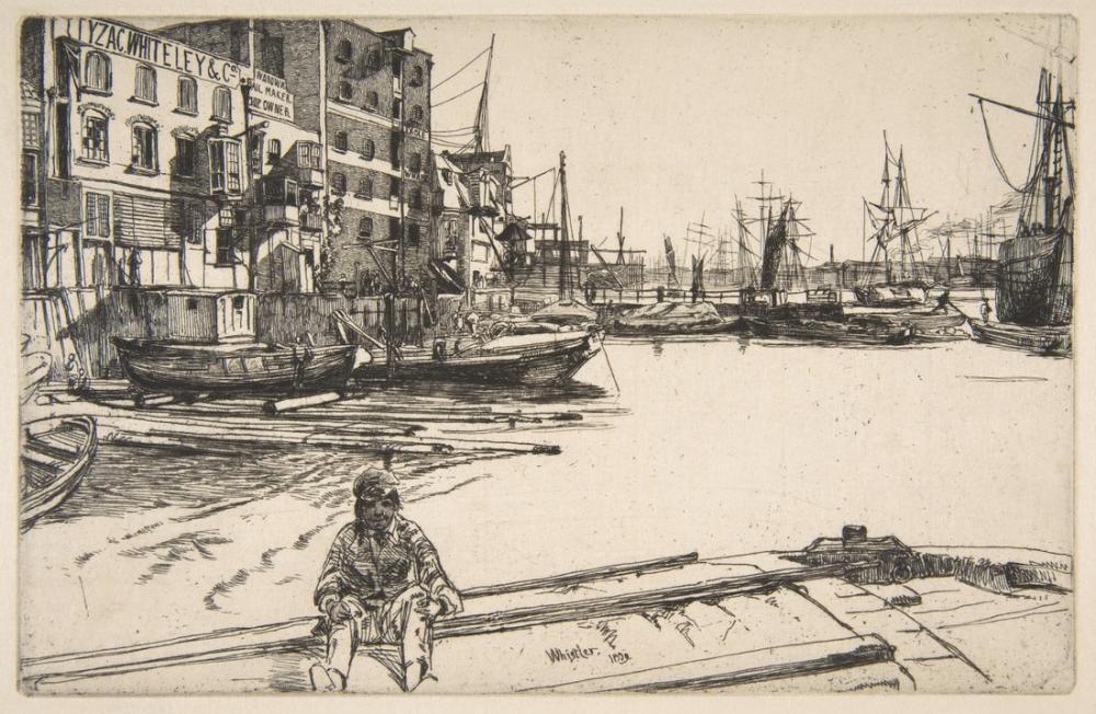 James Abbott McNeill Whistler, Eagle Wharf, Canvas, James Abbott McNeill Whistler, kanvas tablo, canvas print sales
