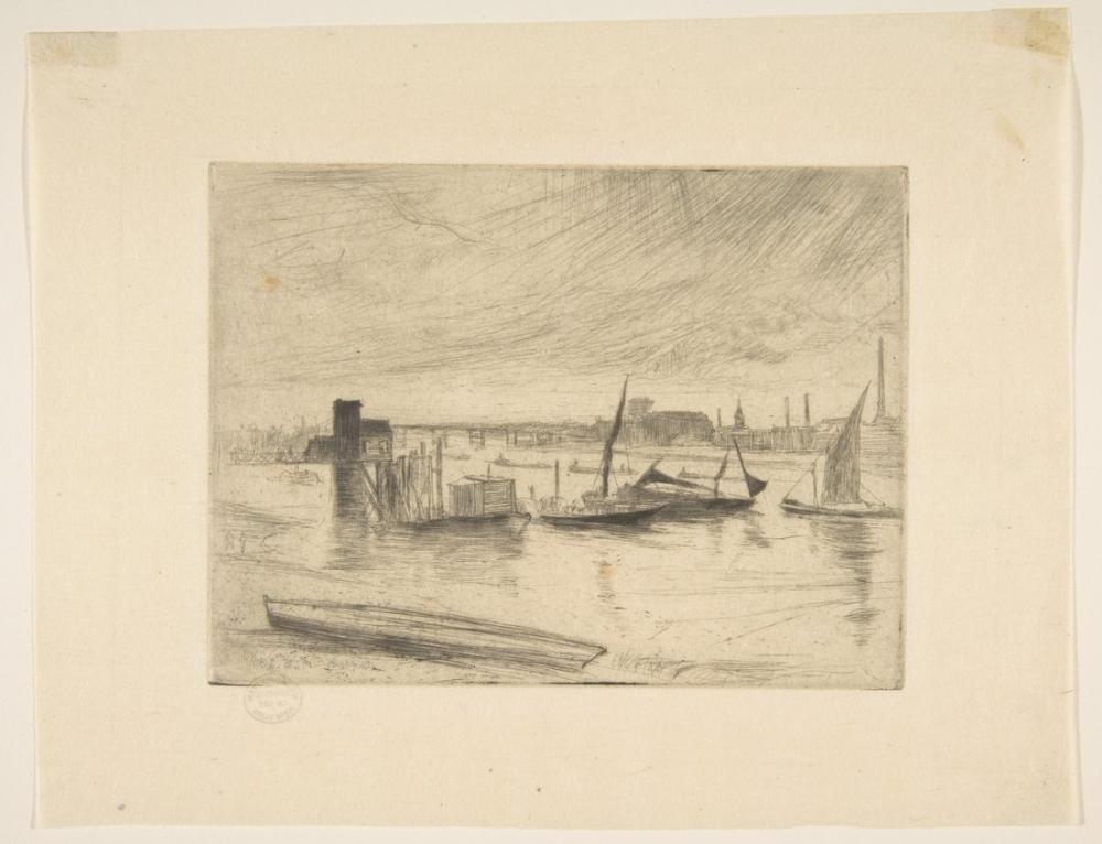 James Abbott McNeill Whistler, Sabah Erken Battersea, Battersea Şafak, Cadogan İskelesi, Kanvas Tablo, James Abbott McNeill Whistler, kanvas tablo, canvas print sales