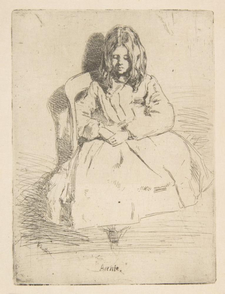 James Abbott McNeill Whistler, Annie Oturuyor, Kanvas Tablo, James Abbott McNeill Whistler, kanvas tablo, canvas print sales