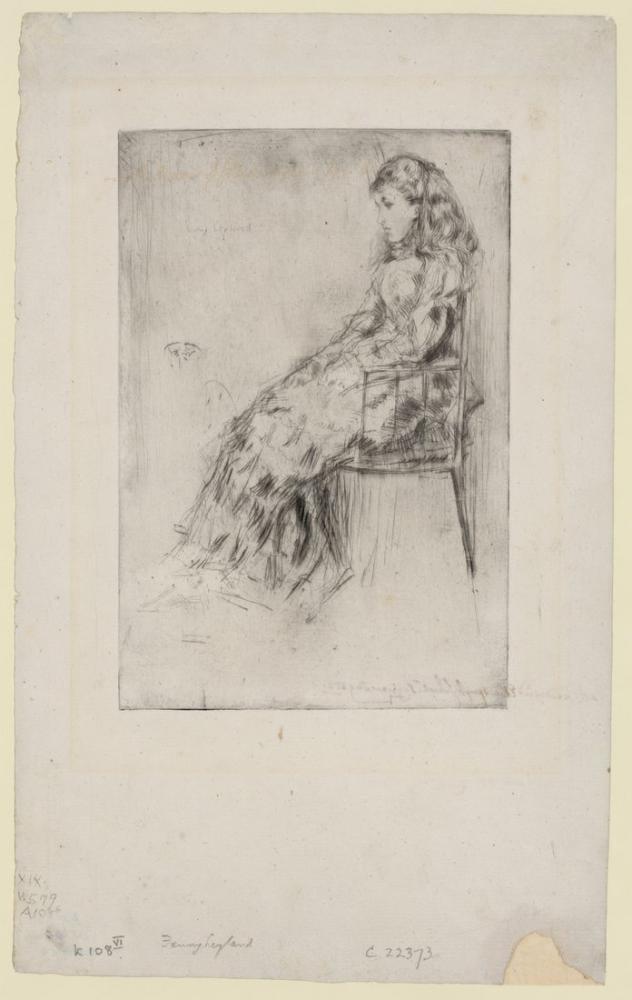 James Abbott McNeill Whistler, Fanny Leyland, Kanvas Tablo, James Abbott McNeill Whistler, kanvas tablo, canvas print sales
