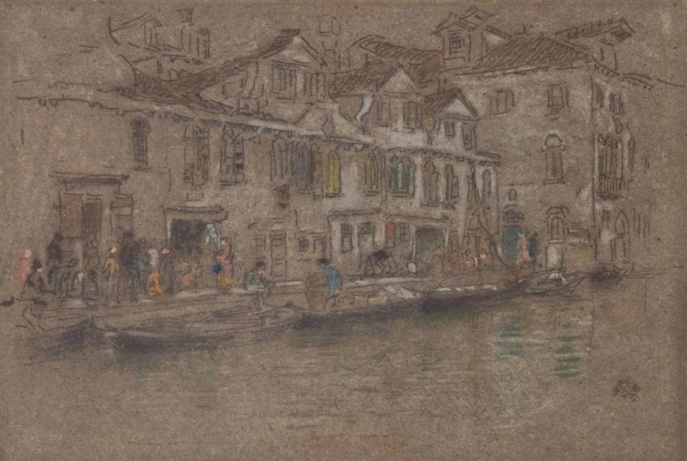 James Abbott McNeill Whistler, Fondamente dei mori, Figür, James Abbott McNeill Whistler, kanvas tablo, canvas print sales