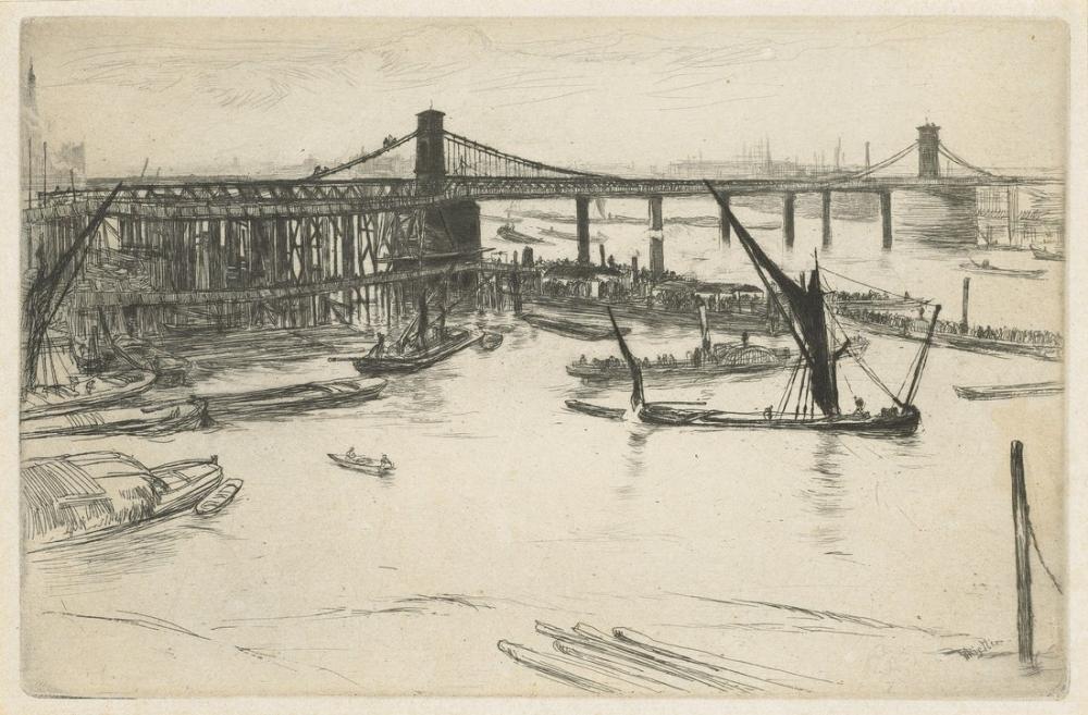 James Abbott McNeill Whistler, Free Trade Wharf, Canvas, James Abbott McNeill Whistler, kanvas tablo, canvas print sales