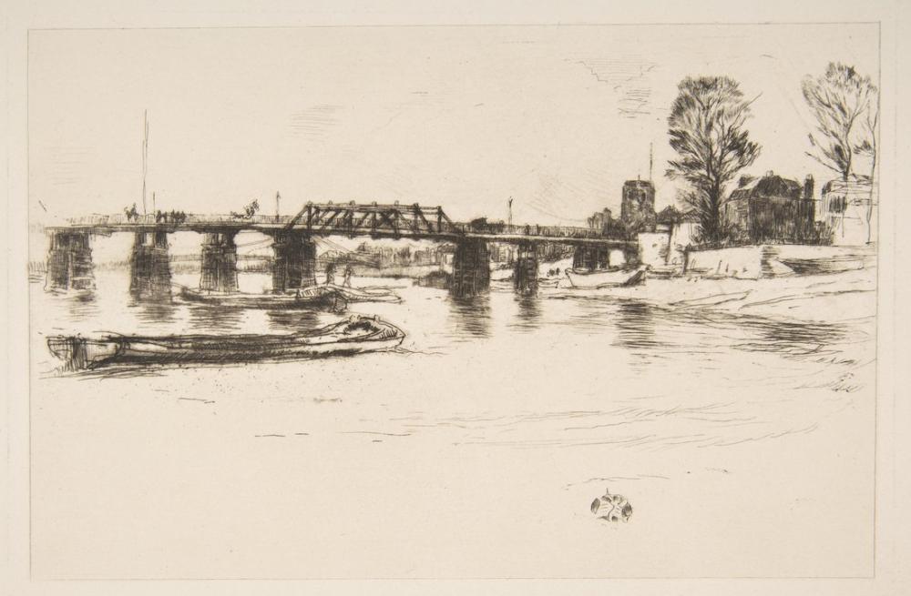 James Abbott McNeill Whistler, Fulham Chelsea, Kanvas Tablo, James Abbott McNeill Whistler, kanvas tablo, canvas print sales