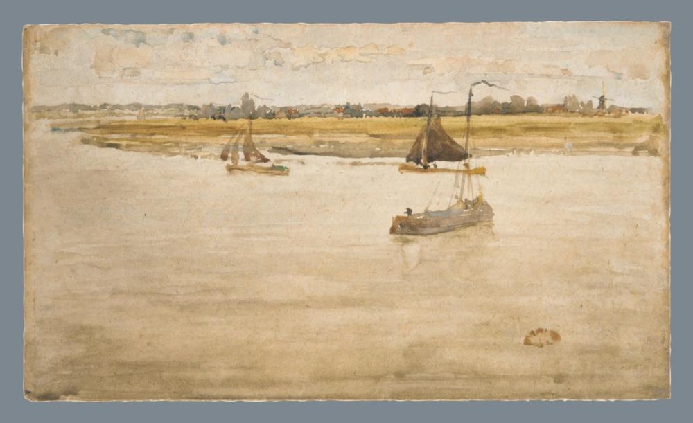James Abbott McNeill Whistler, Altın ve Kahverengi Dordrecht ap. recto, Kanvas Tablo, James Abbott McNeill Whistler, kanvas tablo, canvas print sales