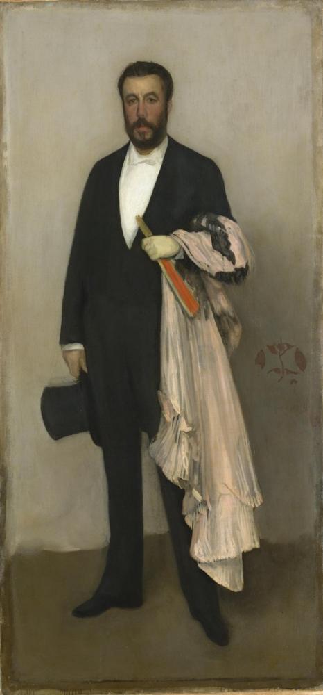 James Abbott McNeill Whistler,Ten Renklerinde Düzenleme ve Theodore Duret Siyah Portre, Kanvas Tablo, James Abbott McNeill Whistler, kanvas tablo, canvas print sales