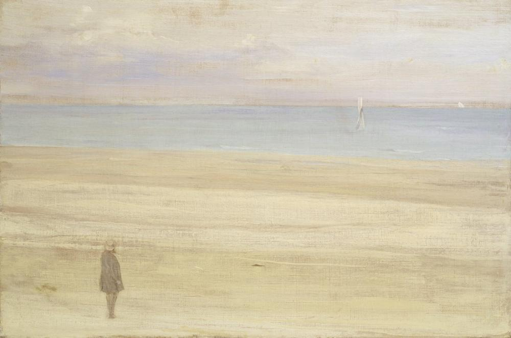 James Abbott McNeill Whistler, Harmony in Blue and Silver Trouville, Canvas, James Abbott McNeill Whistler, kanvas tablo, canvas print sales