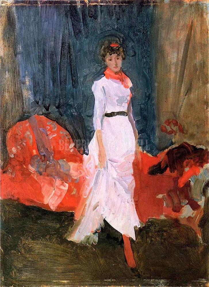 James Abbott McNeill Whistler, Pembe Kırmızı ve Mor Aranjman, Figür, James Abbott McNeill Whistler, kanvas tablo, canvas print sales