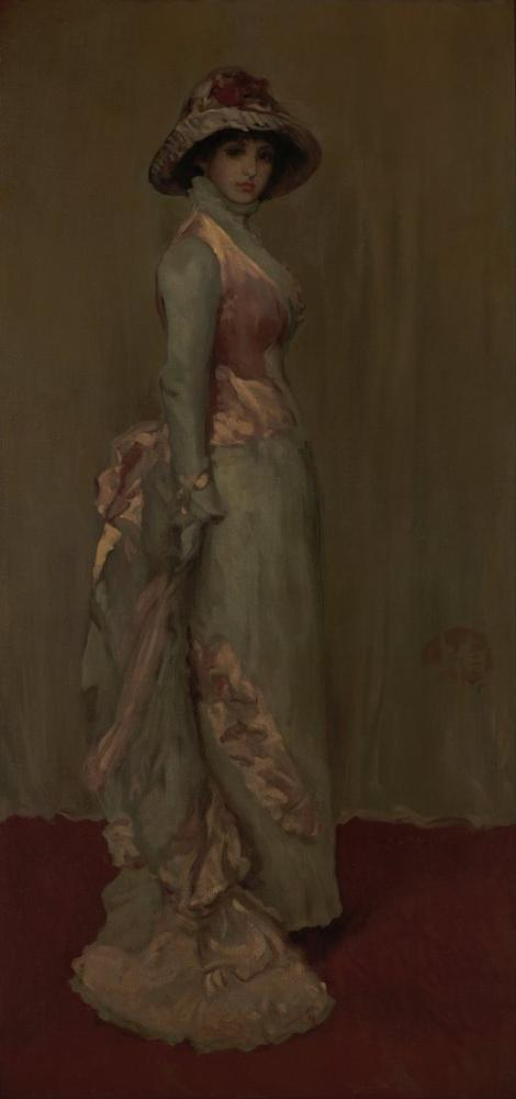James Abbott McNeill Whistler, Harmony in Pink and Gray Lady Meux, Canvas, James Abbott McNeill Whistler, kanvas tablo, canvas print sales