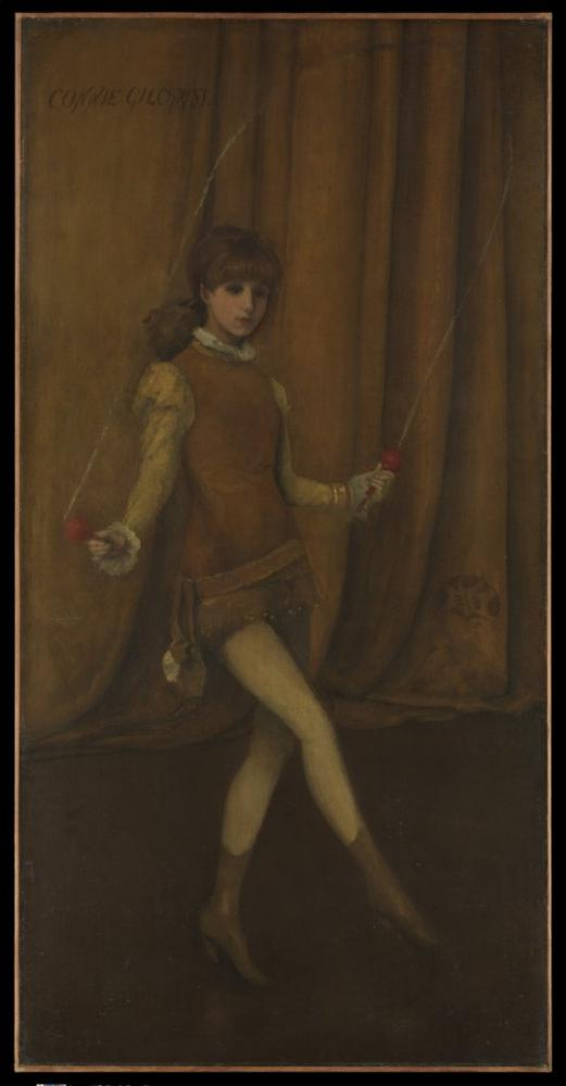 James Abbott McNeill Whistler, Sarı ve Altın Uyumu Altın Kız, Kanvas Tablo, James Abbott McNeill Whistler, kanvas tablo, canvas print sales